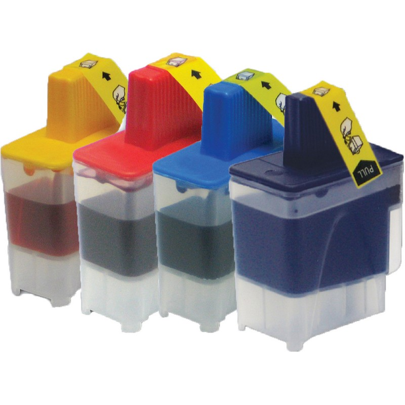 Set of 4 Brother LC41 Combo Pack Color Ink Cartridges