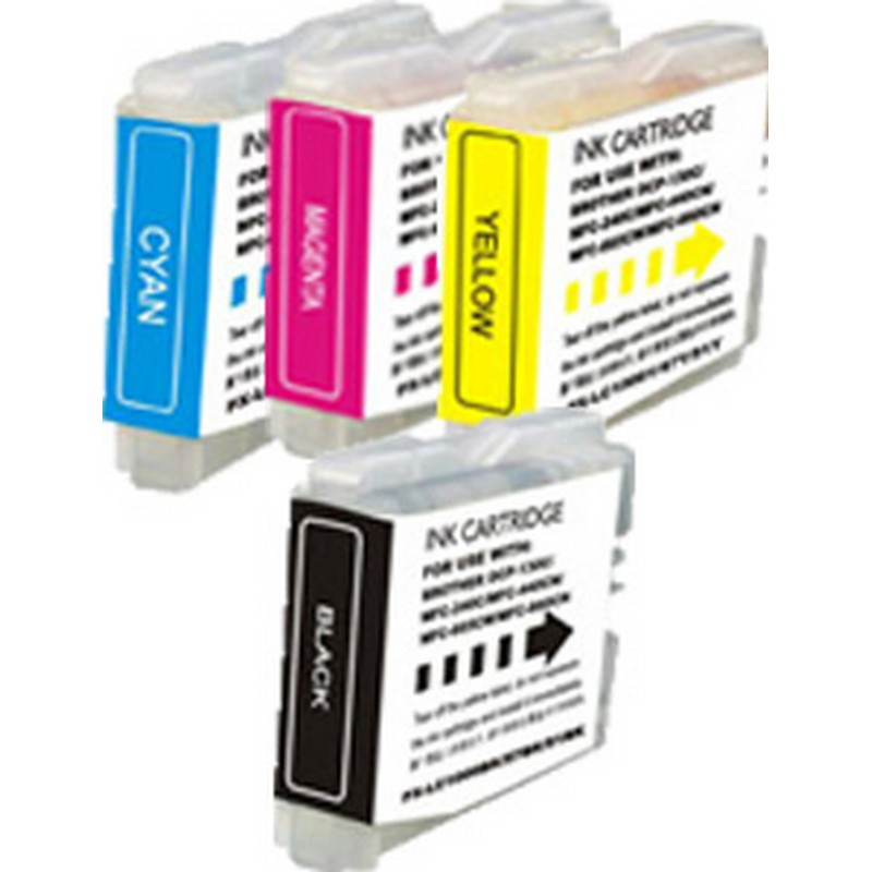 Set of 4 Brother LC51 Combo Pack Color Ink Cartridges