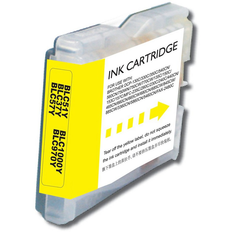 Brother LC51Y Yellow Ink Cartridge