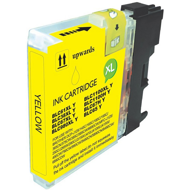 Brother LC61Y Yellow Ink Cartridge