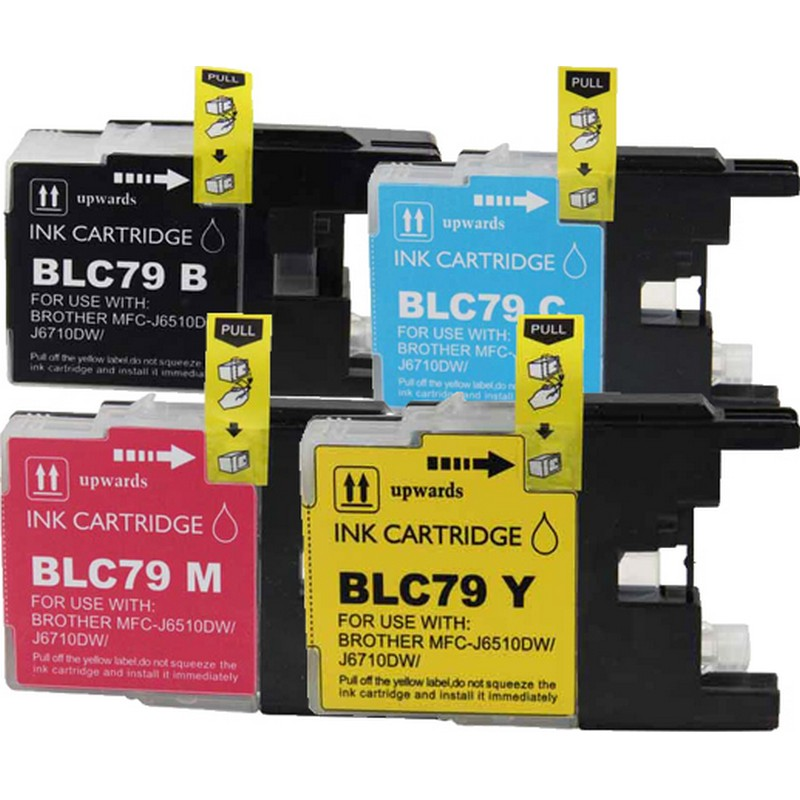 Set of 4 Brother LC79 Combo Pack Color Ink Cartridges
