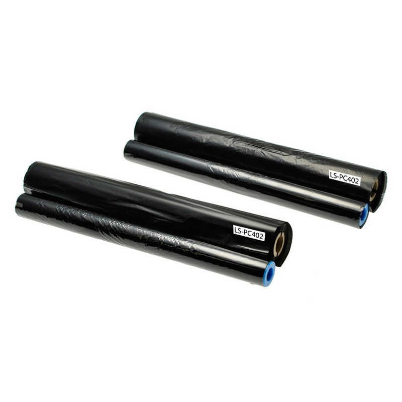 Set of 2 Brother PC402RF Black Thermal Fax Ribbons