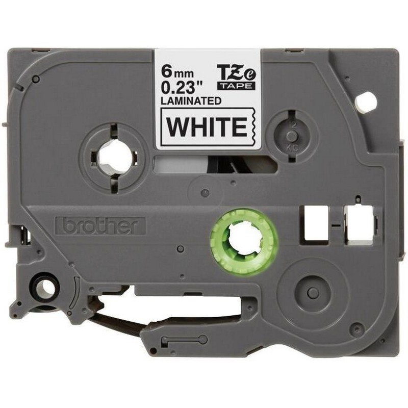 Brother TZe-211 Black on White P-Touch Label