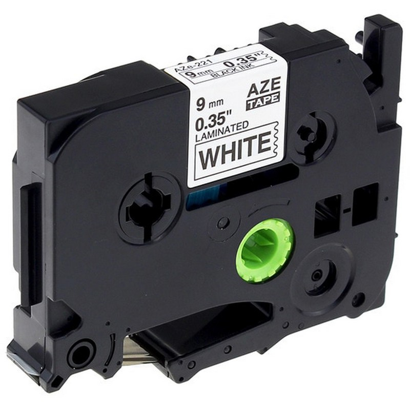 Brother TZe-221 Black on White P-Touch Label