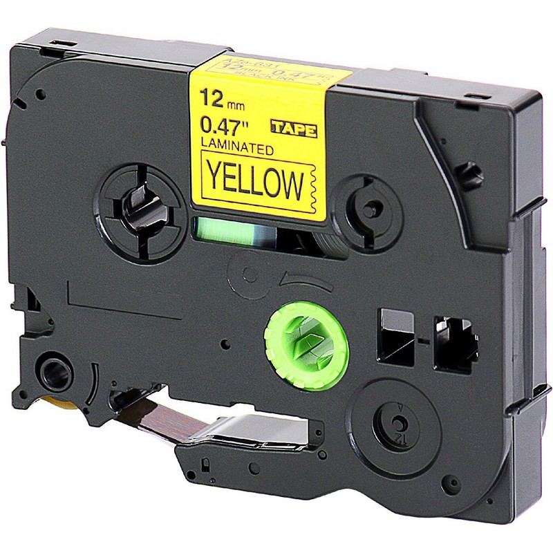 Brother TZe-631 Black on Yellow P-Touch Label