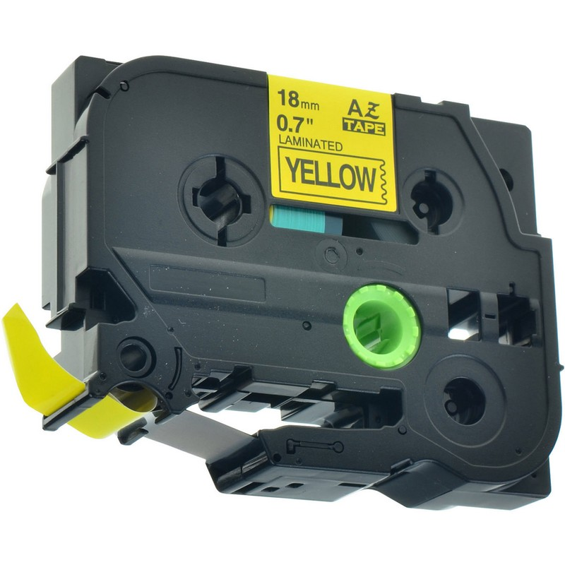 Brother TZe-641 Black on Yellow P-Touch Label