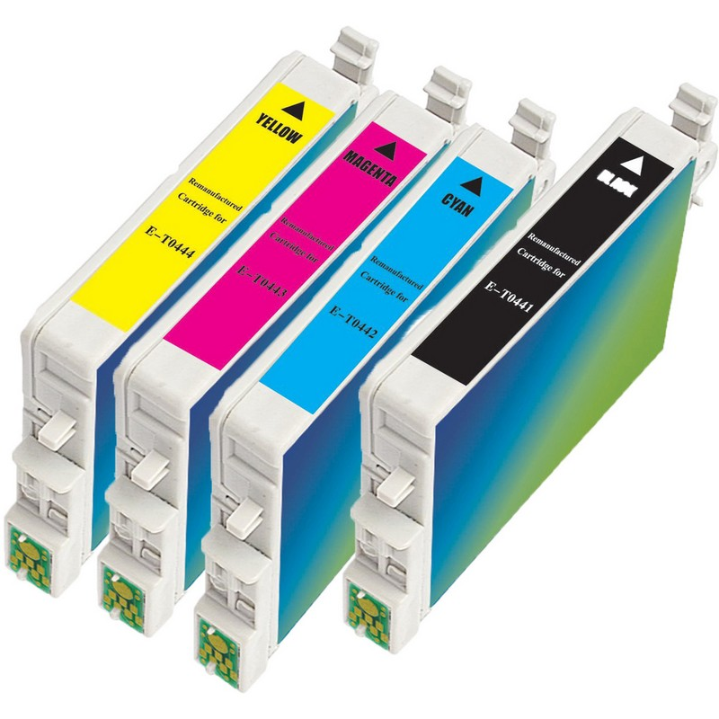 Set of 4 Epson T044 Combo Pack Color Ink Cartridges