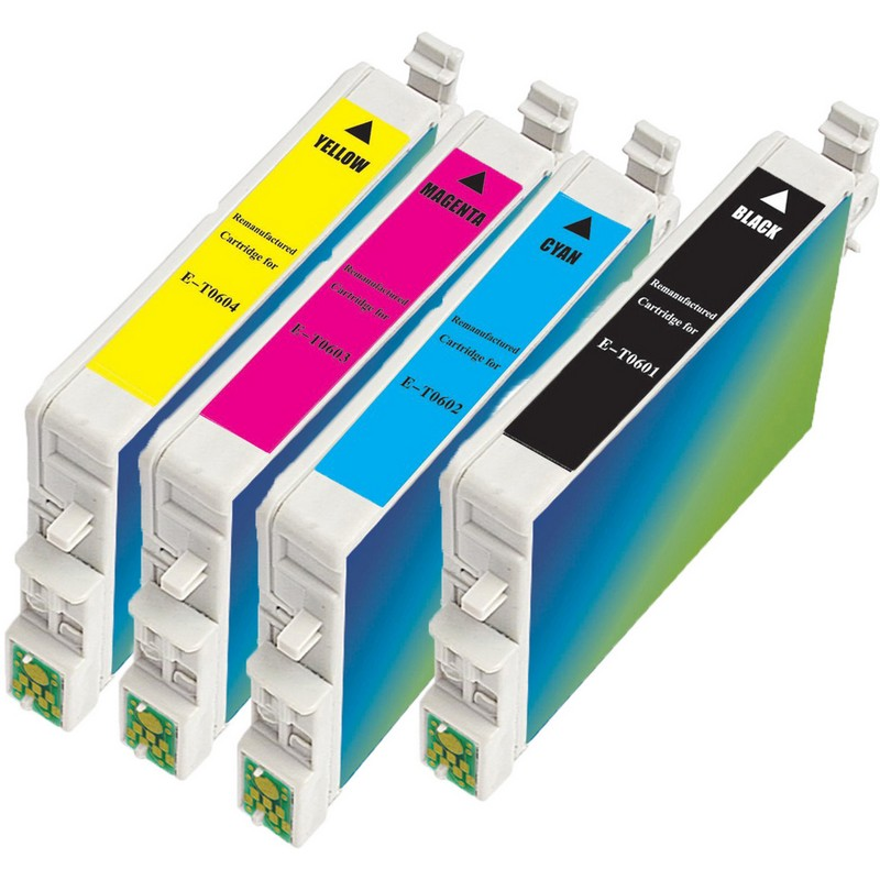 Set of 4 Epson T060 Combo Pack Color Ink Cartridges