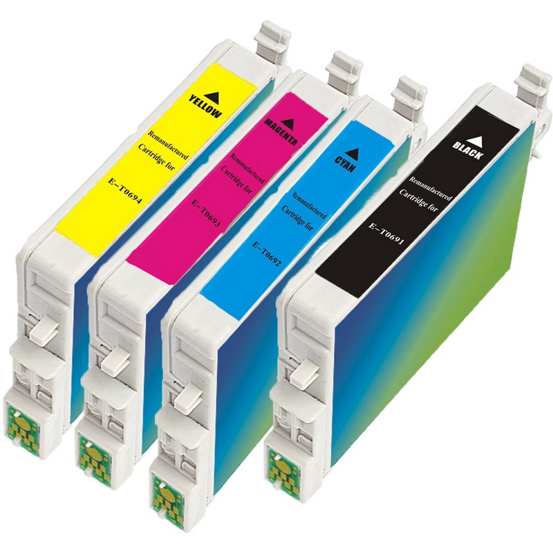 Set of 4 Epson T069 Combo Pack Color Ink Cartridges