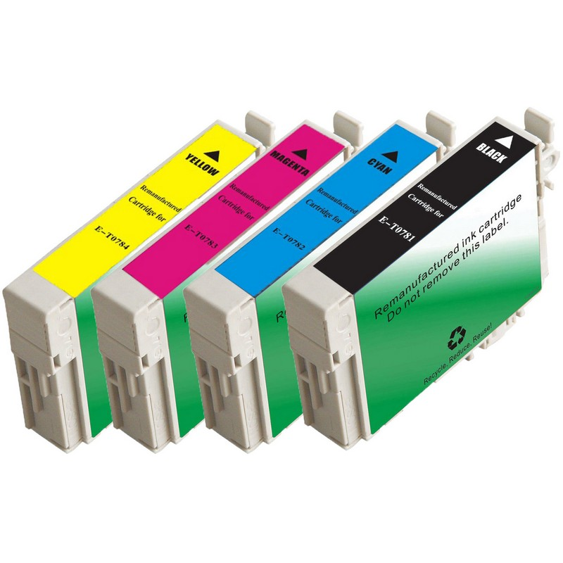 Set of 6 Epson T078 Combo Pack Color Ink Cartridges