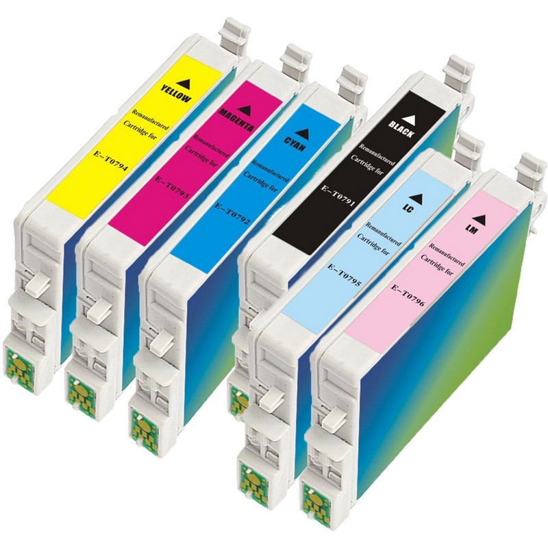 Set of 6 Epson T079 Combo Pack Color Ink Cartridges