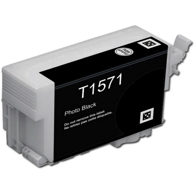 Epson T157120 Photo Black Ink Cartridge-Epson T1571