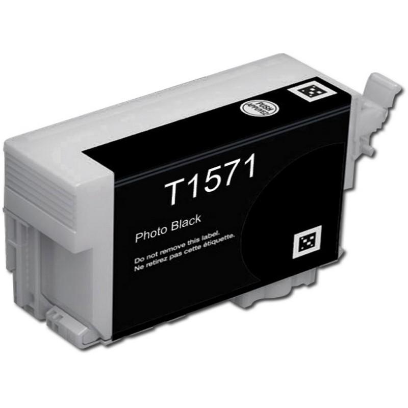 Epson T157120 Photo Black Ink Cartridge-Epson T1571