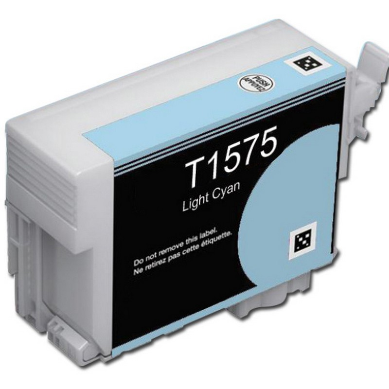Epson T157520 Lt. Cyan Ink Cartridge-Epson T1575