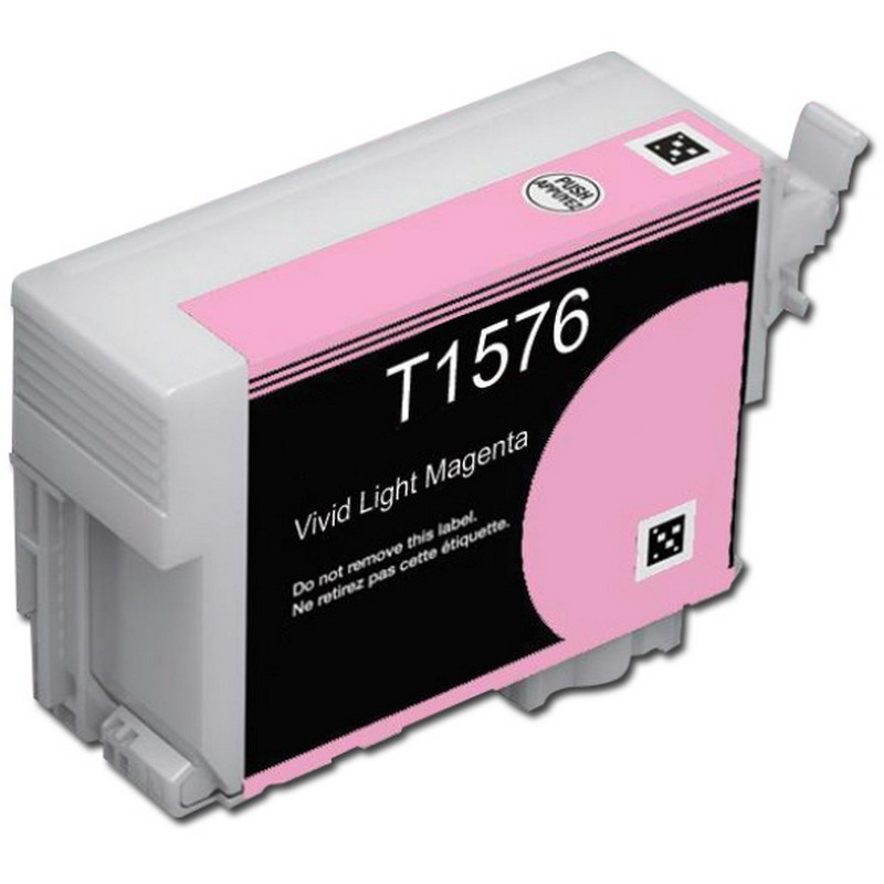 Epson T157620 Lt. Magenta Ink Cartridge-Epson T1576