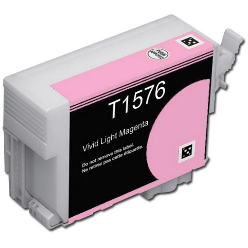 Epson T157620 Lt. Magenta Ink Cartridge-Epson T1576