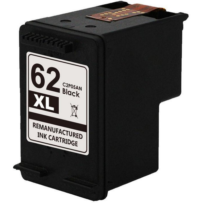 HP C2P05AN Black Ink Cartridge-HP #62XL