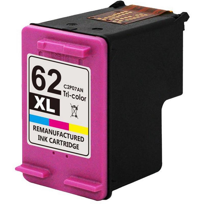 HP C2P07AN Color Ink Cartridge-HP #62XL