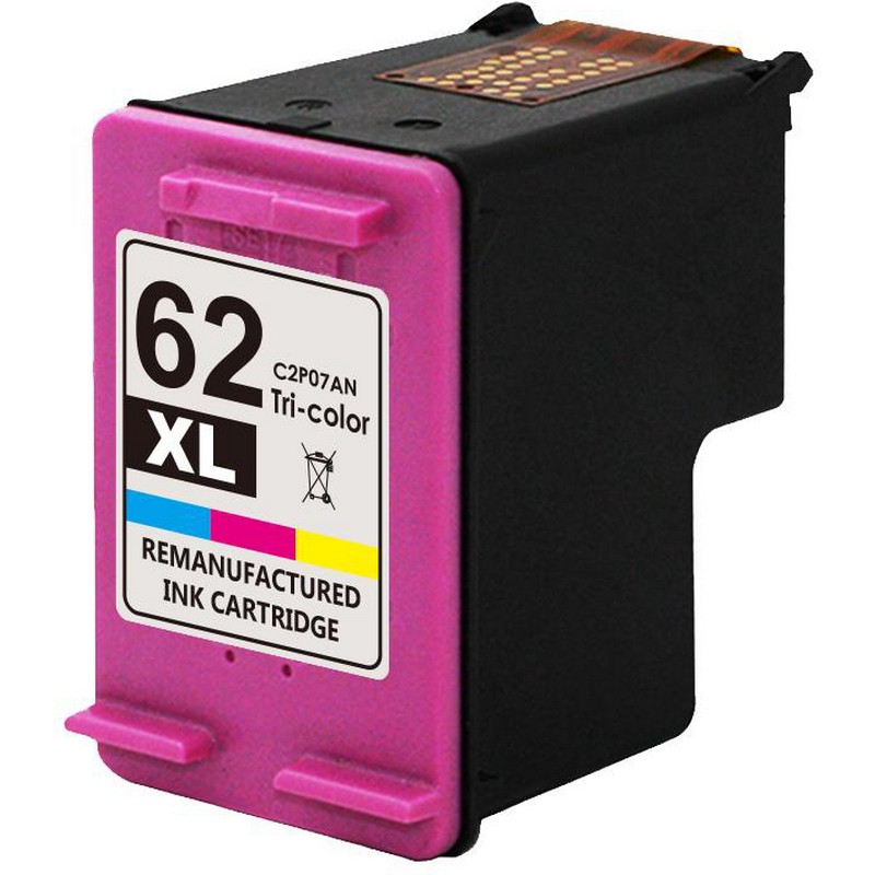 HP C2P07AN Color Ink Cartridge-HP #62XL