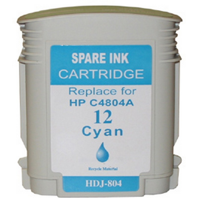 HP C4804A Cyan Ink Cartridge-HP #12