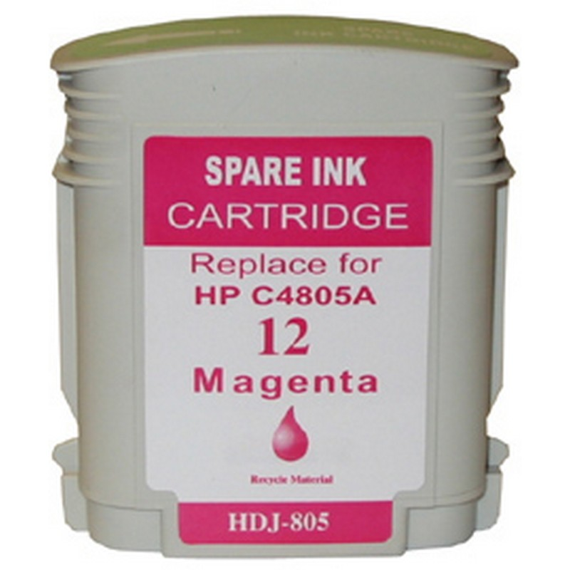 HP C4805A Magenta Ink Cartridge-HP #12