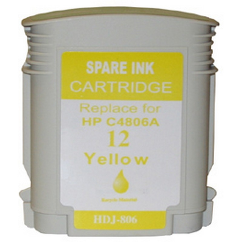 HP C4806A Yellow Ink Cartridge-HP #12