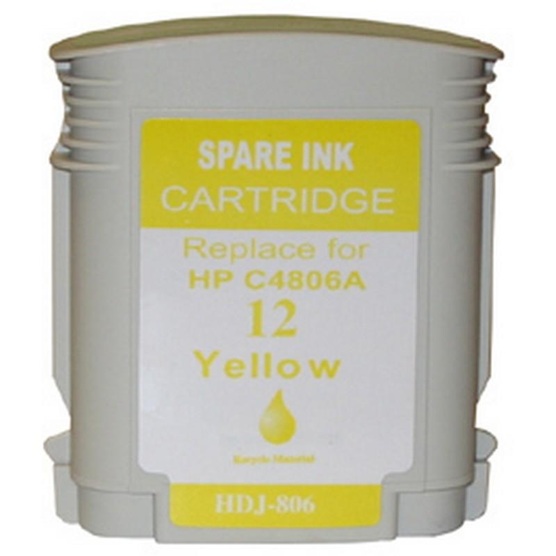 HP C4806A Yellow Ink Cartridge-HP #12
