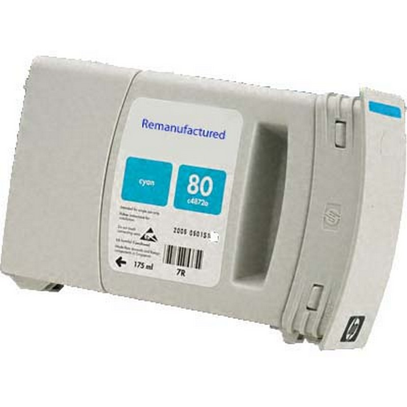 HP C4846A Cyan Ink Cartridge-HP #80XL