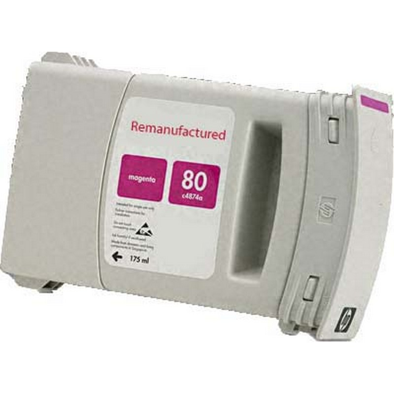 HP C4847A Magenta Ink Cartridge-HP #80XL