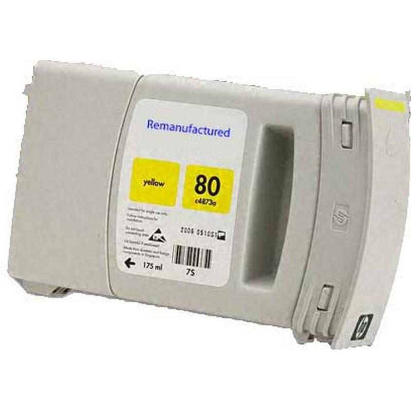 HP C4848A Yellow Ink Cartridge-HP #80XL