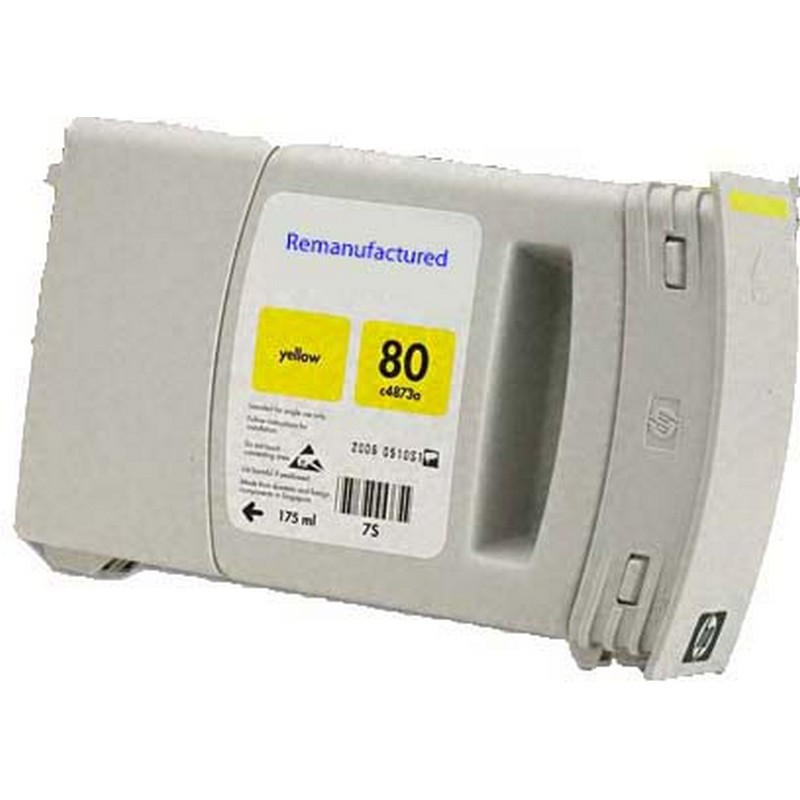HP C4848A Yellow Ink Cartridge-HP #80XL