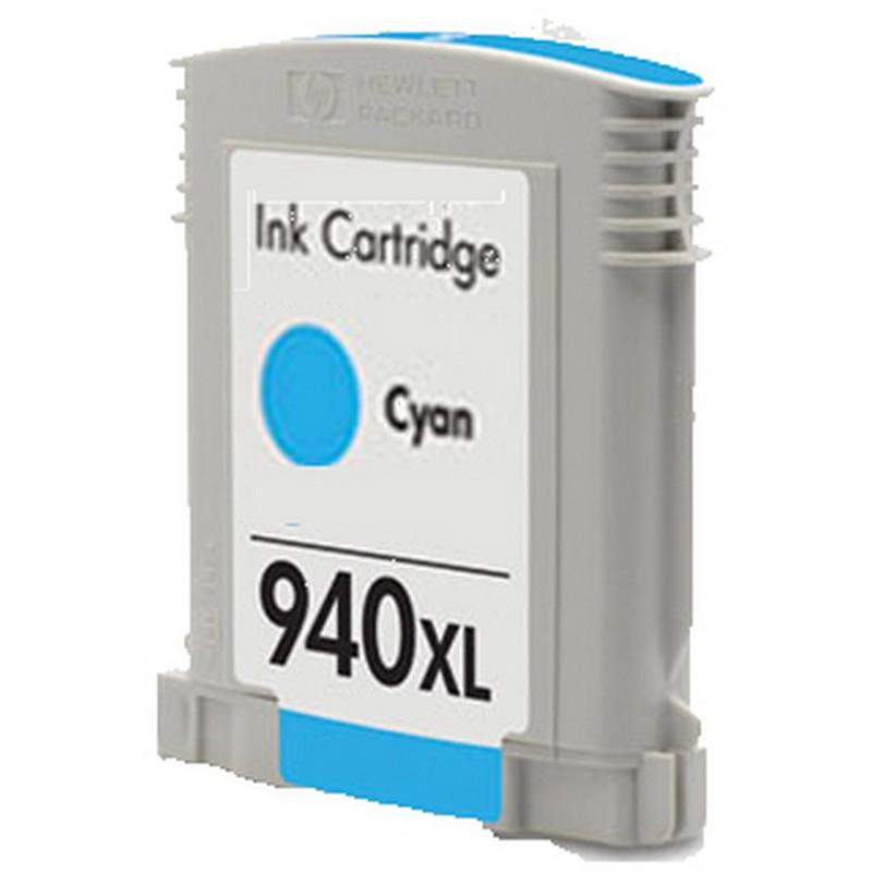 HP C4907AN Cyan Ink Cartridge-HP #940XLCY