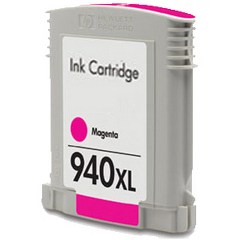 HP C4908AN Magenta Ink Cartridge-HP #940XLMA