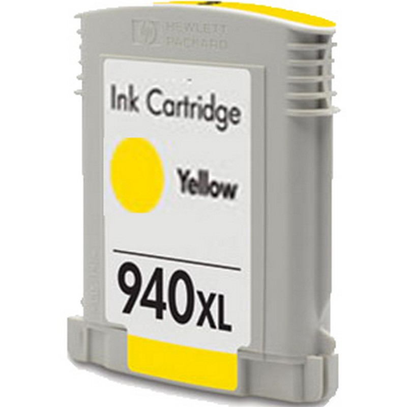 HP C4909AN Yellow Ink Cartridge-HP #940XLYW