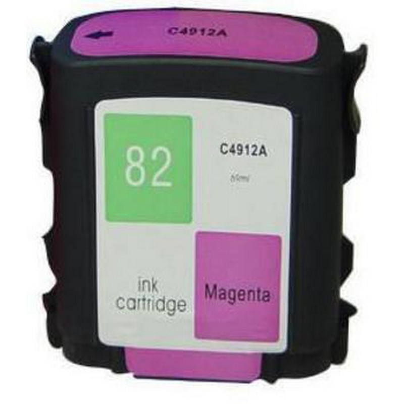 HP C4912A Magenta Ink Cartridge-HP #82