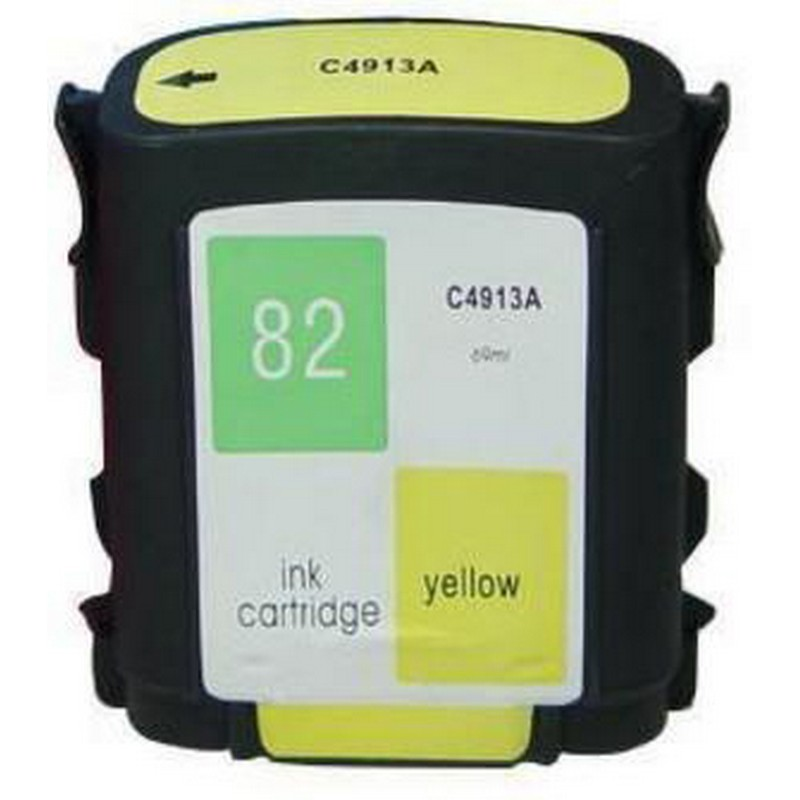 HP C4913A Yellow Ink Cartridge-HP #82