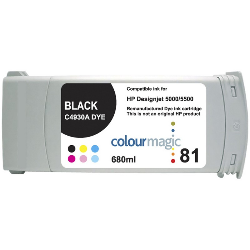 HP C4930A Black Ink Cartridge-HP #81