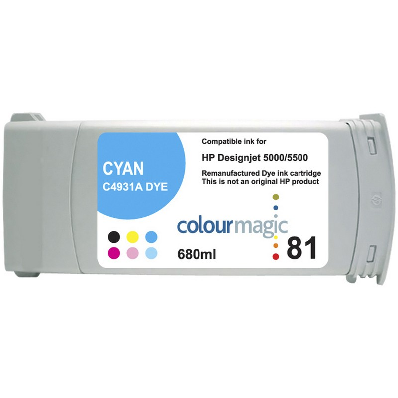 HP C4931A Cyan Ink Cartridge-HP #81