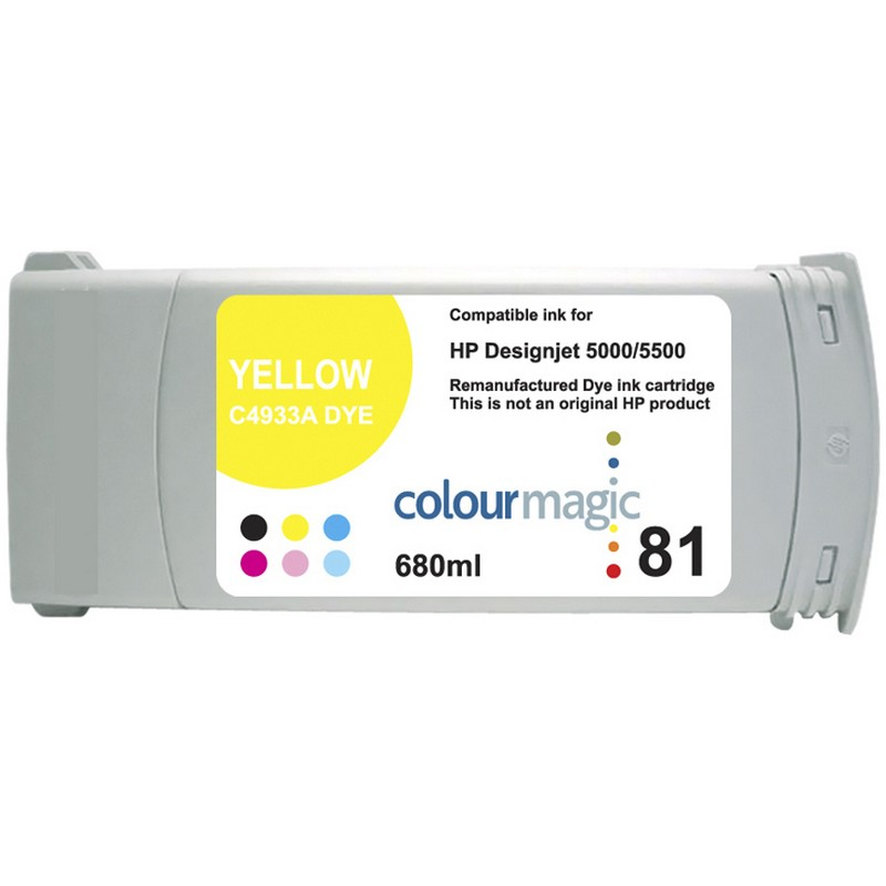HP C4933A Yellow Ink Cartridge-HP #81