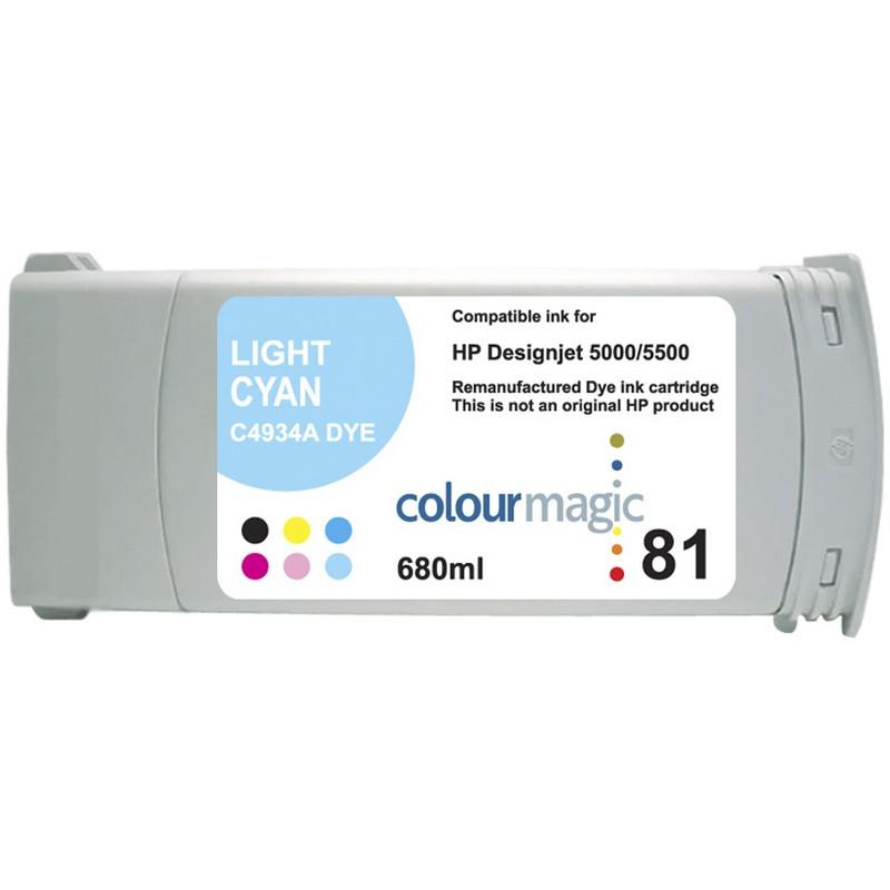 HP C4934A Lt. Cyan Ink Cartridge-HP #81