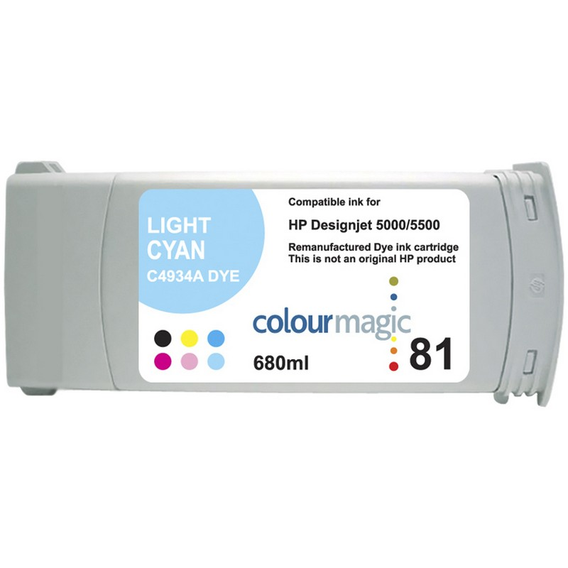 HP C4934A Lt. Cyan Ink Cartridge-HP #81
