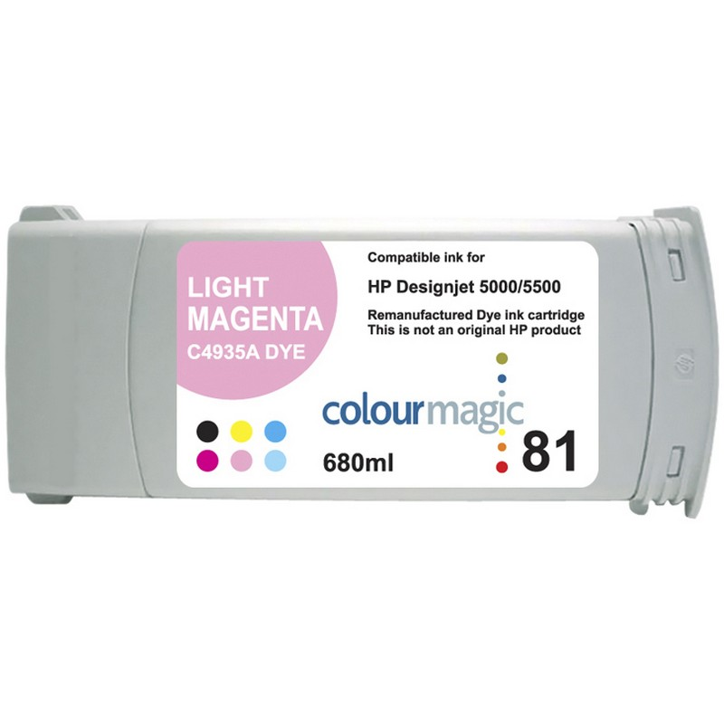 HP C4935A Lt. Magenta Ink Cartridge-HP #81