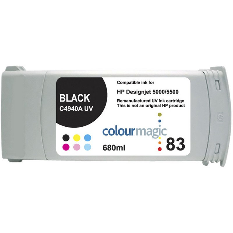 HP C4940A Black-UV Ink Cartridge-HP #83