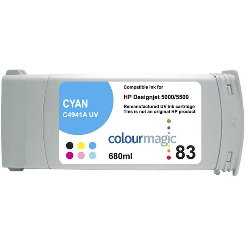HP C4941A Cyan-UV Ink Cartridge-HP #83