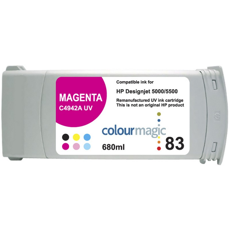 HP C4942A Magenta-UV Ink Cartridge-HP #83