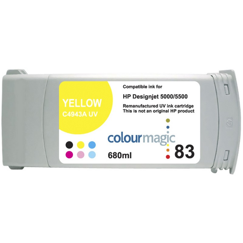HP C4943A Yellow-UV Ink Cartridge-HP #83