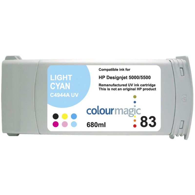 HP C4944A Lt. Cyan-UV Ink Cartridge-HP #83