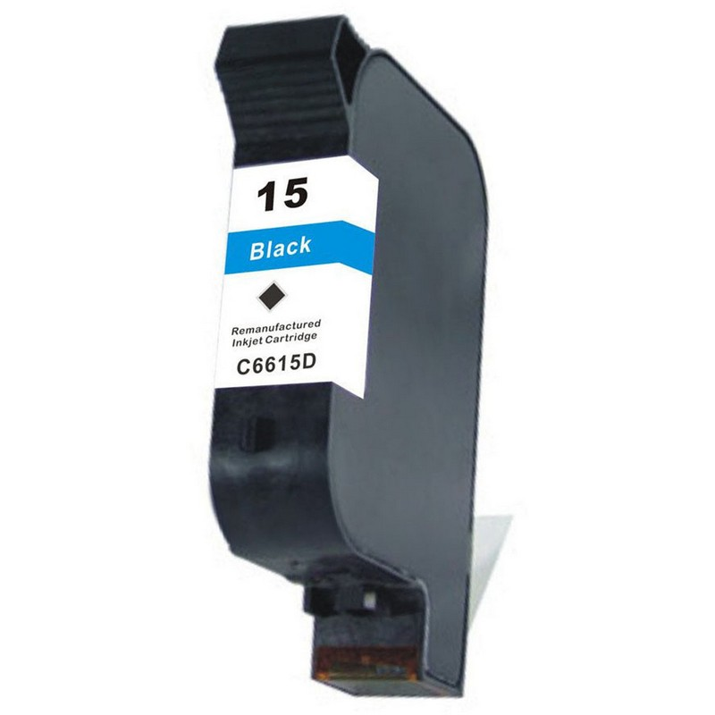 HP C6615A Black Ink Cartridge-HP #15