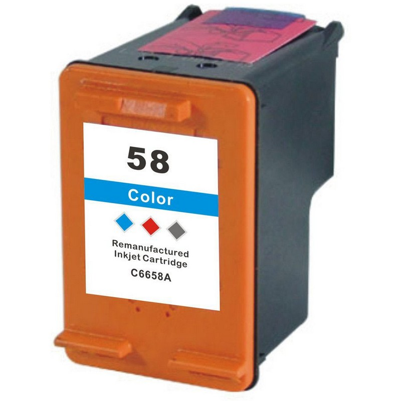 HP C6658A Color Ink Cartridge-HP #58