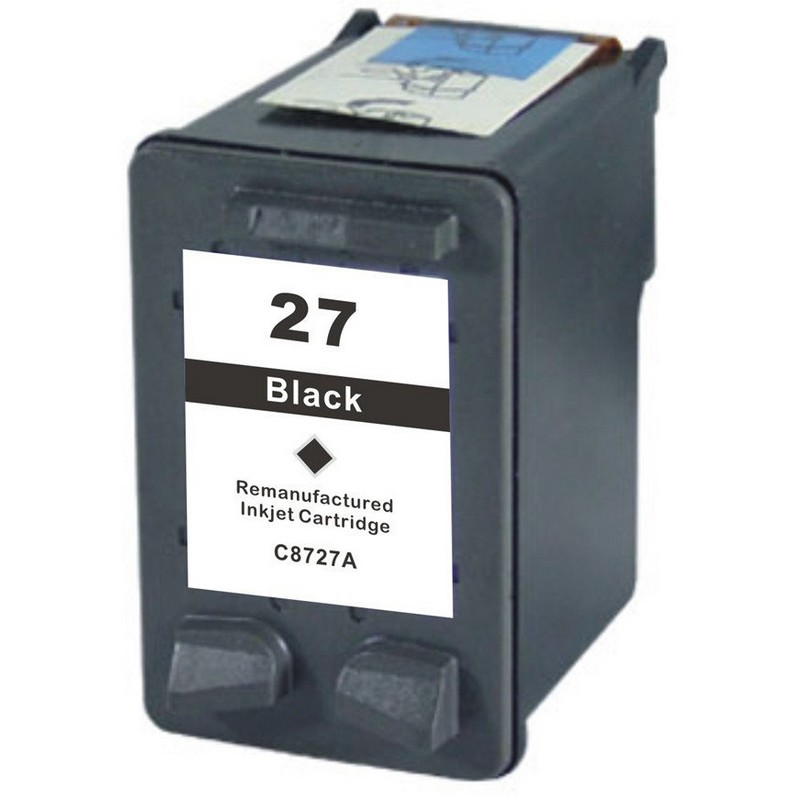 HP C8727A Black Ink Cartridge-HP #27